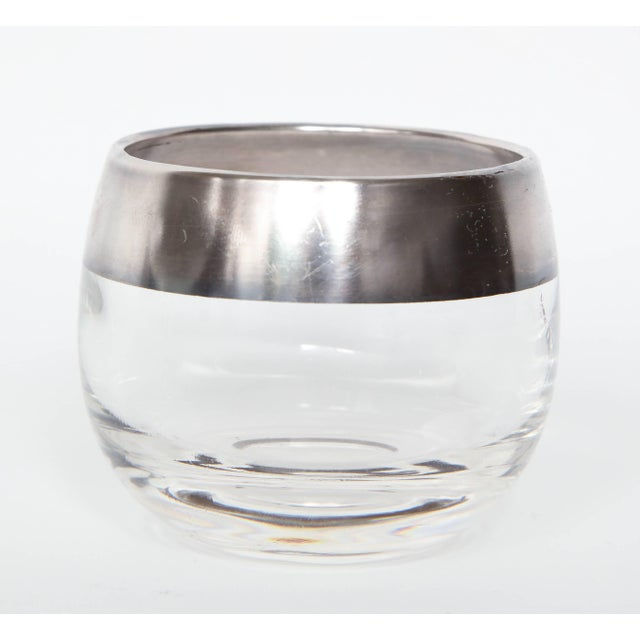 ffa6bb199e2 Blown Glass 1960s Dorothy Thorpe Sterling Silver Rimmed Cocktail - Set of 9  For Sale -