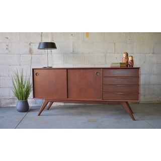 Mid Century Modern Teak Sculpted Credenza / Media Stand Preview