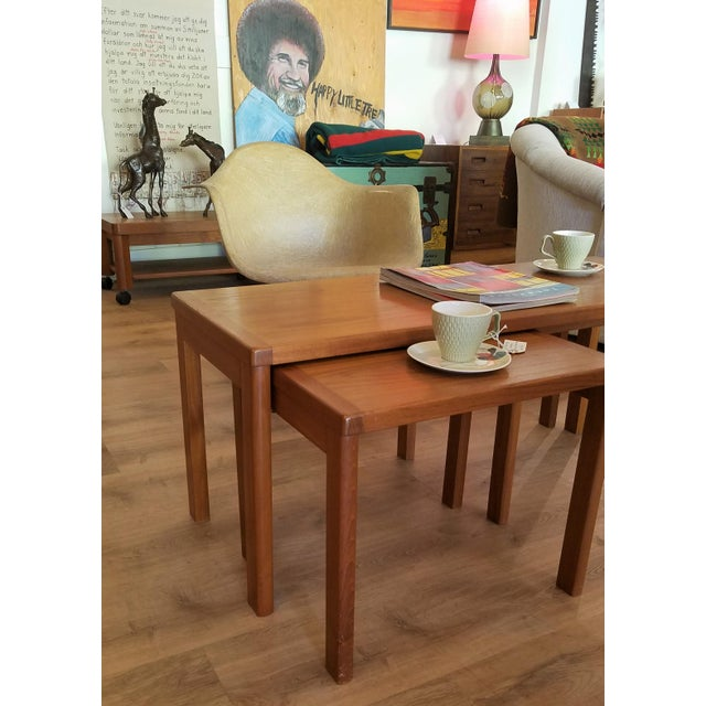 Vejle Stole & Møbelfabrik Teak Coffee Table With Nesting Side Tables - 3 Pieces For Sale - Image 12 of 13