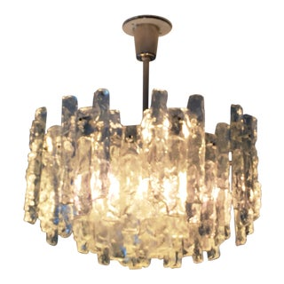 Kalmar Two-Tier Ice Glass Chandelier For Sale