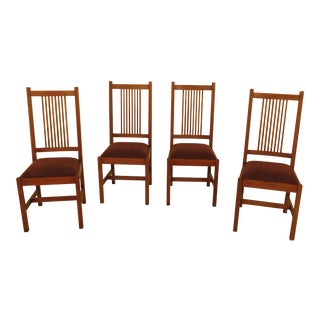 Stickley Mission Oak Dining Room Chairs - Set of 4