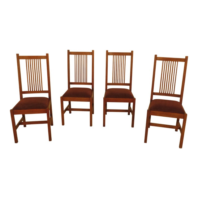 Stickley Mission Oak Dining Room Chairs - Set of 4 For Sale