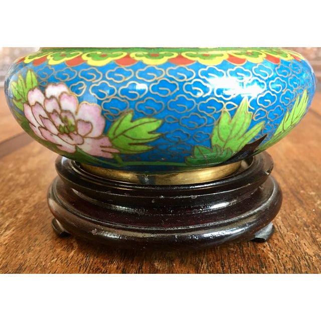 1970s Chinese Cloisonne Trinket Box For Sale - Image 4 of 13