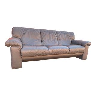 Vintage Modern Natuzzi Leather Sofa For Sale