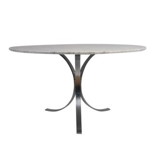 Mid-Century Modern-style Chrome Dining Table For Sale