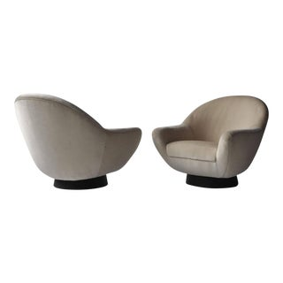 1960s Mid-Century Modern ​Hans​ ​Kaufeld​ ​Swivel​ ​Lounge Chairs​ - a Pair