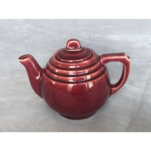 Vintage 1940s Usa Pottery Teapot For Sale - Image 12 of 13