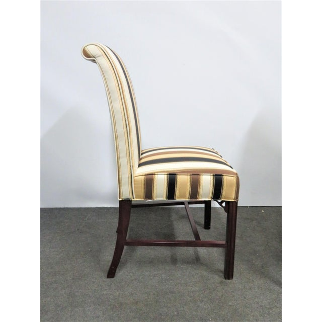 Chippendale Late 20th Century Vintage Statesville Chair Co. Stripped Chippendale Style Side Chairs-a Pair For Sale - Image 3 of 7