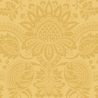 Cole & Son Dukes Damask Wallpaper Roll - Yellow For Sale