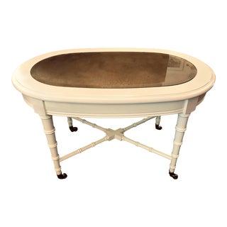 1960's Regency Revival Coffee Table For Sale