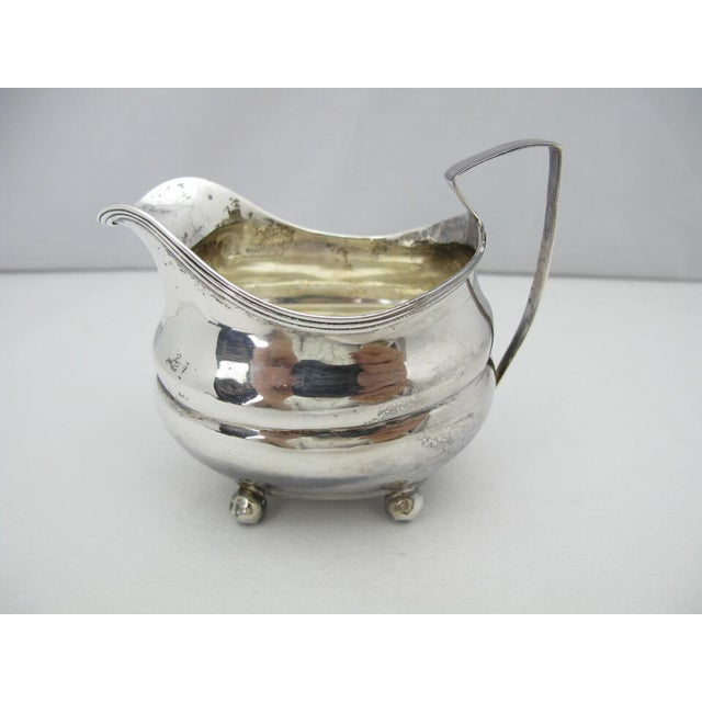 1808 George III Squared Sterling Silver Creamer Pitcher by George Turner For Sale In Portland, OR - Image 6 of 6