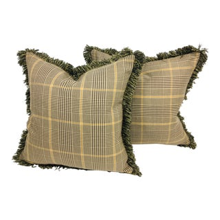 Ralph Lauren Tweed Pillows – a Pair For Sale