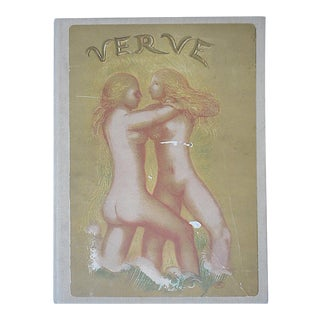 Vintage Mid 20th C. Lithograph-Female Nudes-Georges Braque From Verve Art Journal For Sale