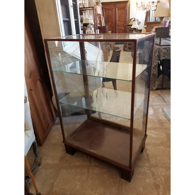 Wood Antique Mahogany Display Case Cabinet For Sale - Image 7 of 9