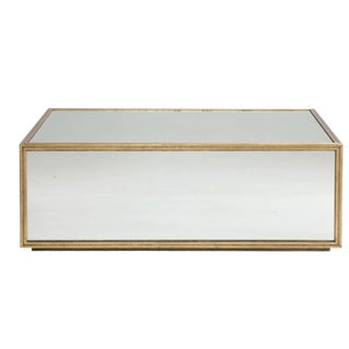 Modern Jet Set Mirrored Coffee Table For Sale