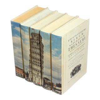 Sarreid LTD Tower of Pisa Books- Set of 5 For Sale