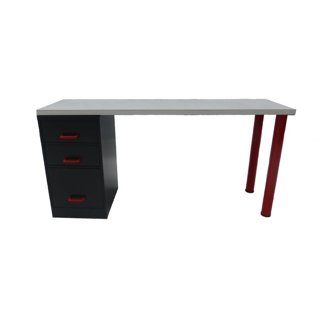 1980's Memphis Style Desk and Chair - Image 2 of 7