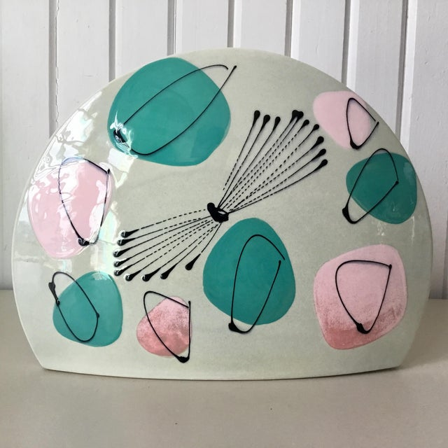 Abstract Mid-Century Atomic Pastel Pillow Vase For Sale - Image 3 of 7