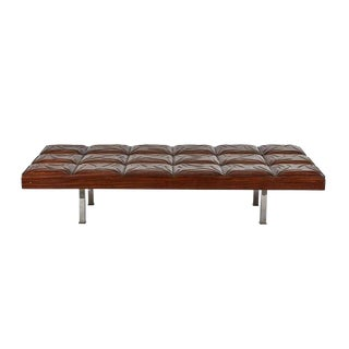 Vintage Mahogany Gallery Bench For Sale