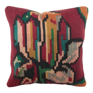 Vintage Flower Kilim Pillow Cover
