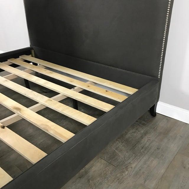 Crate & Barrel Upholstered King Bed - Image 10 of 11