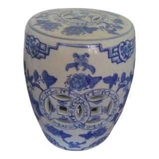 1970's Chinese Blue&white Porcelain Garden Stool For Sale