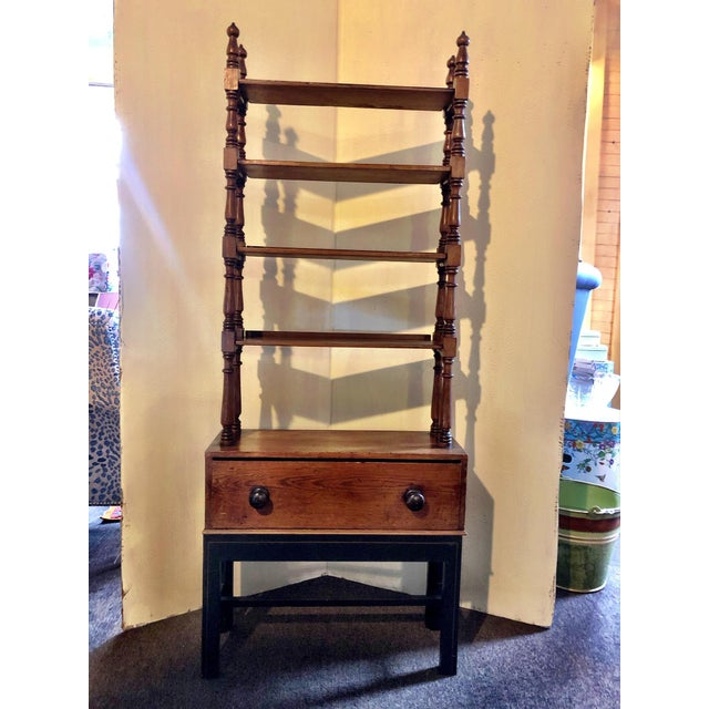 Antique Pine Etagere on Base With Drawer For Sale In Providence - Image 6 of 6