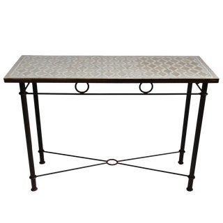 Large Mosaic Console Table For Sale