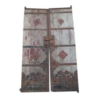 Vintage Garden Gate With Metal Work For Sale