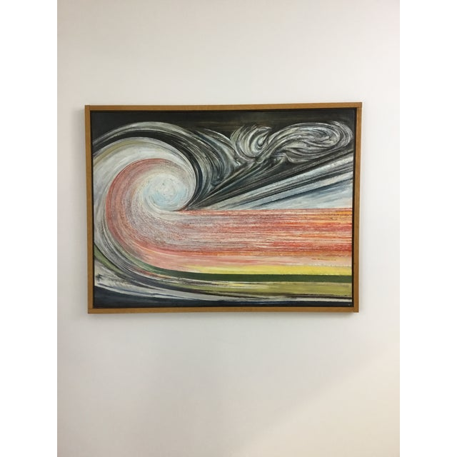 Oil painting on board in artist-made frame, dated 1996. Niels Michaelsen (1924-2016) was a NY artist whose work spans 6...