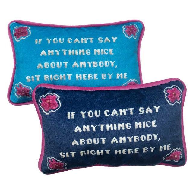 Textile Alice Roosevelt Longworth Sassy Quote Velvet Toss Pillow, Original Design For Sale - Image 7 of 7