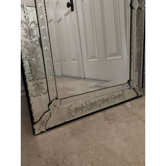 Transparent Vintage Venetian Tall Mirror For Sale - Image 8 of 12