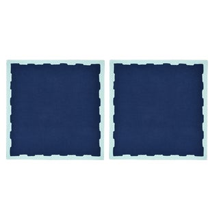 Hanover Placemats, Navy and Aqua - Set of 2 For Sale