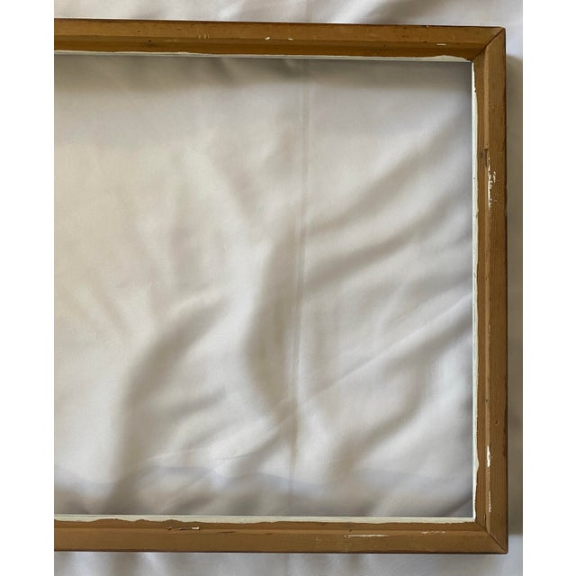 Auburn Mid 20th Century Traditional Wood Art Frame With White Accents For Sale - Image 8 of 11