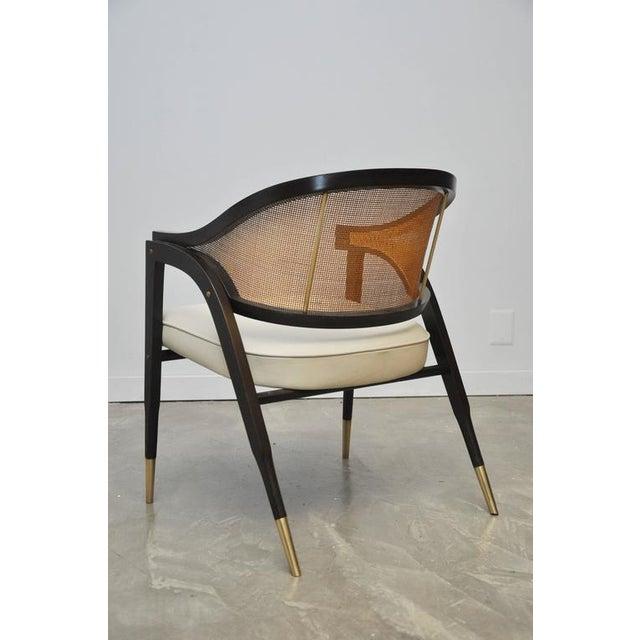 Dunbar Furniture Captain Armchair by Edward Wormley for Dunbar For Sale - Image 4 of 7