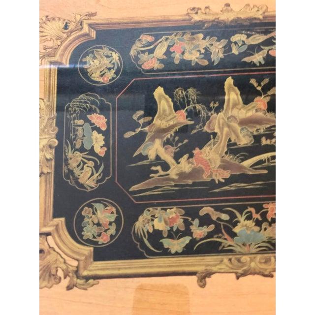 "Vintage Turner Wall Accessories. Asian Landscape Scenes on Veneer ""Lacca Cinese (Sec. Xviii)"" For Sale - Image 6 of 8"