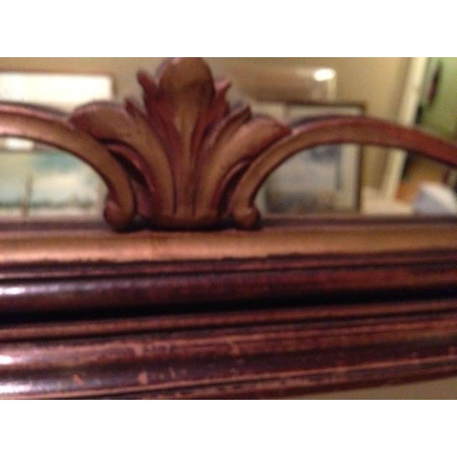 Antique Hand-Carved Wood Framed Mirror - Image 8 of 11