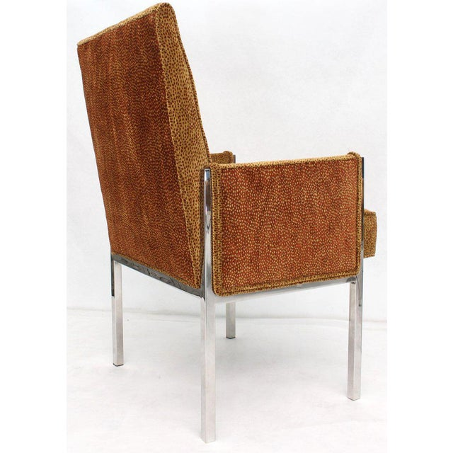 Vintage Mid Century Chrome Frame New Upholstery Dining Chairs- Set of 8 For Sale - Image 9 of 13