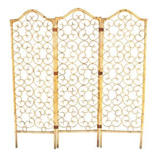 Three Panels Bamboo Divider For Sale