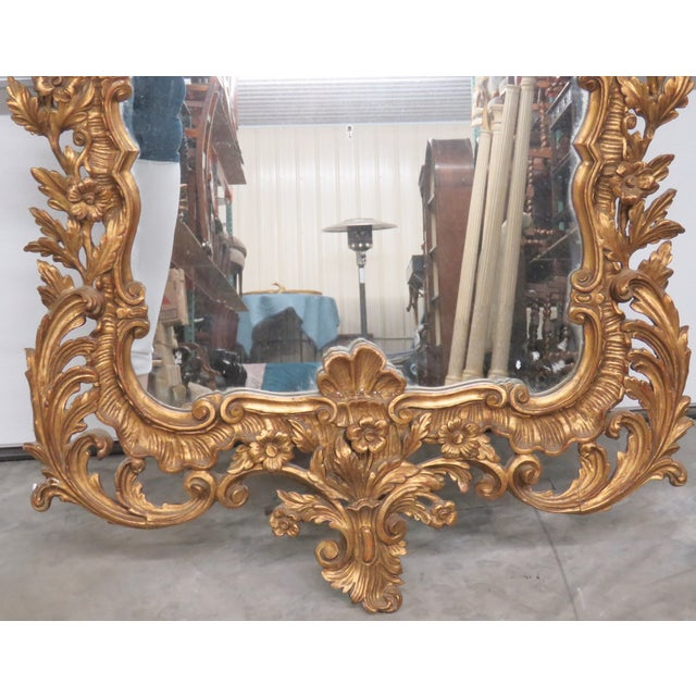 Italian Gilt Carved Wall Mirror - Image 2 of 6
