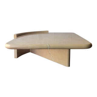 Vintage 1980s Post-Modern Bullnose Lacquered Coffee Table For Sale