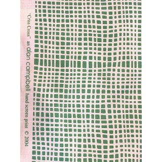 Alan Campbell for Quadrille Cris Cross Fabric For Sale
