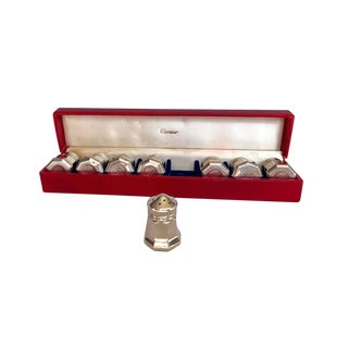 Cartier Sterling Silver Salts, Set of Eight For Sale