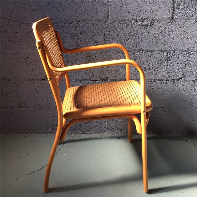Danish Modern Bentwood Cane Chairs - Set of 6 - Image 4 of 11