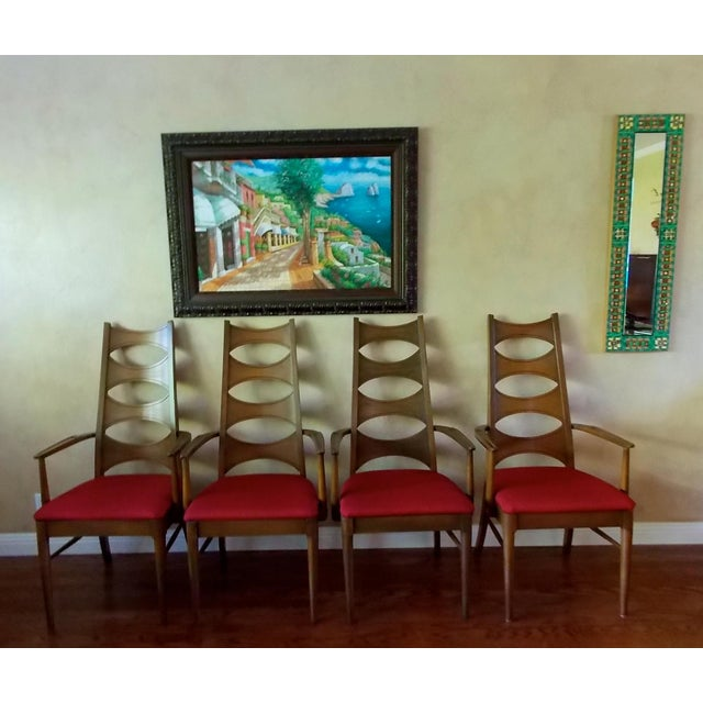 Kent Coffey Cat-Eye Dining Chairs - Set of 4 - Image 2 of 10