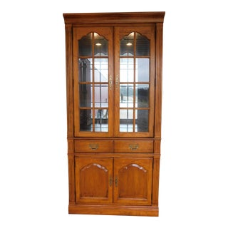 """Thomasville Fisher Park Lighted Wall Cabinet 81""""h X 37.5""""w For Sale"""