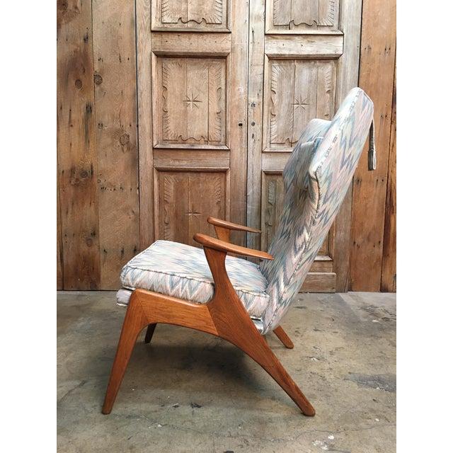 Kurt Ostervig Vintage Mid Century Kurt Ostervig High Back Lounge Chair For Sale - Image 4 of 13