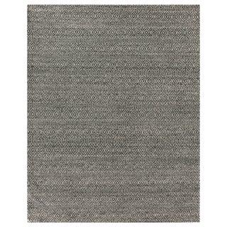 Sanz Flatweave Wool Black Rug - 6'x9' For Sale