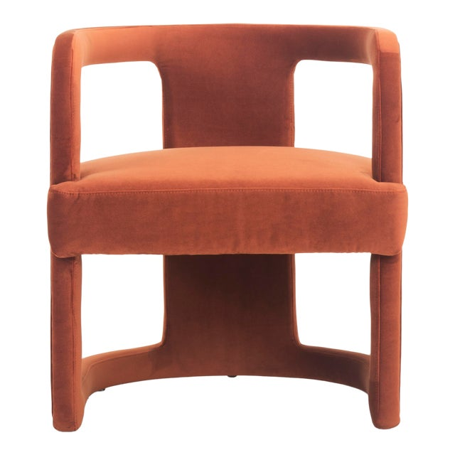 Diane Accent Chair, Rust For Sale
