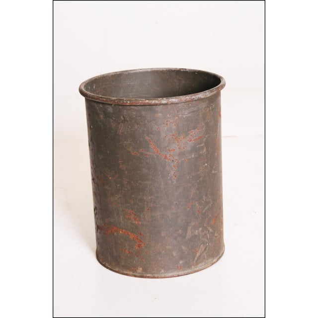 Vintage Industrial Green Metal Military Can - Image 3 of 11